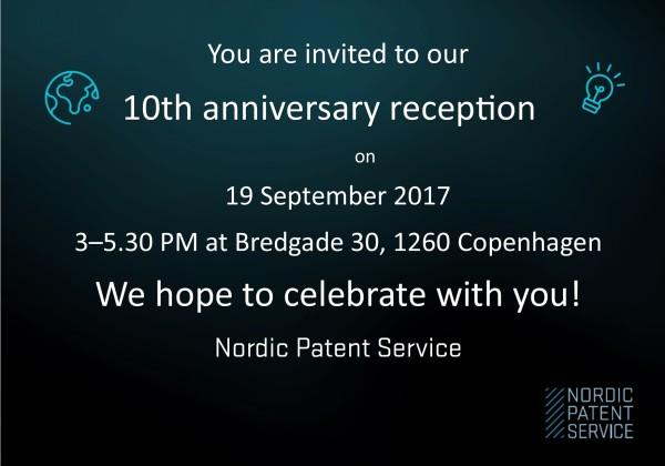 NPS 10 year invitation card
