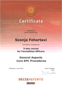 Szonja Certificate EPC core procedures